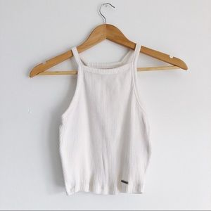 Abercrombie & Fitch Ribbed Crop Top XS